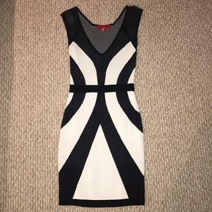 Wow Couture Black & White Dress